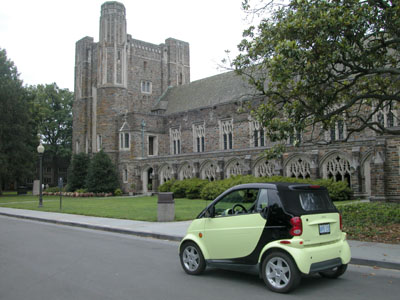 Rich's Smart Cabrio at Duke University in Durham, NC