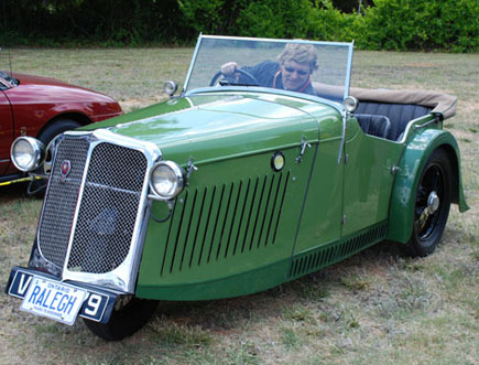"""""""1st Place Motorcar"""" went to this 1934 Raleigh Safety Seven owned by Peter Svilans of Thornhill, Ontario"""