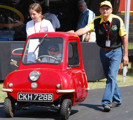 This 1965 Peel P50 is the smallest production microcar ever produced