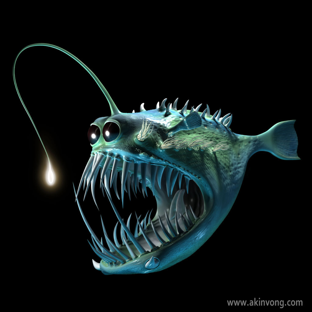 Paper Mache – Angler Fish – Rich Helms for Anglerfish Light  56mzq