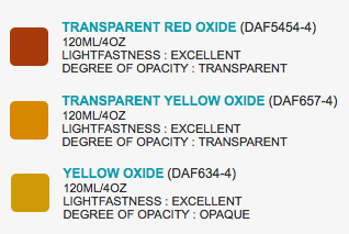 Screen colours do no justice but I am leaning toward browns and yellows with red oxide tones.